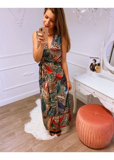 Long Dress Print Rood