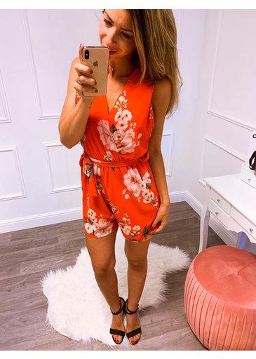 Sweet Flower Jumpsuit Rood
