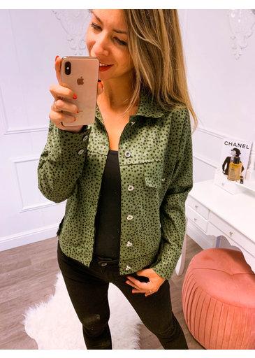 Stip Jacket Groen