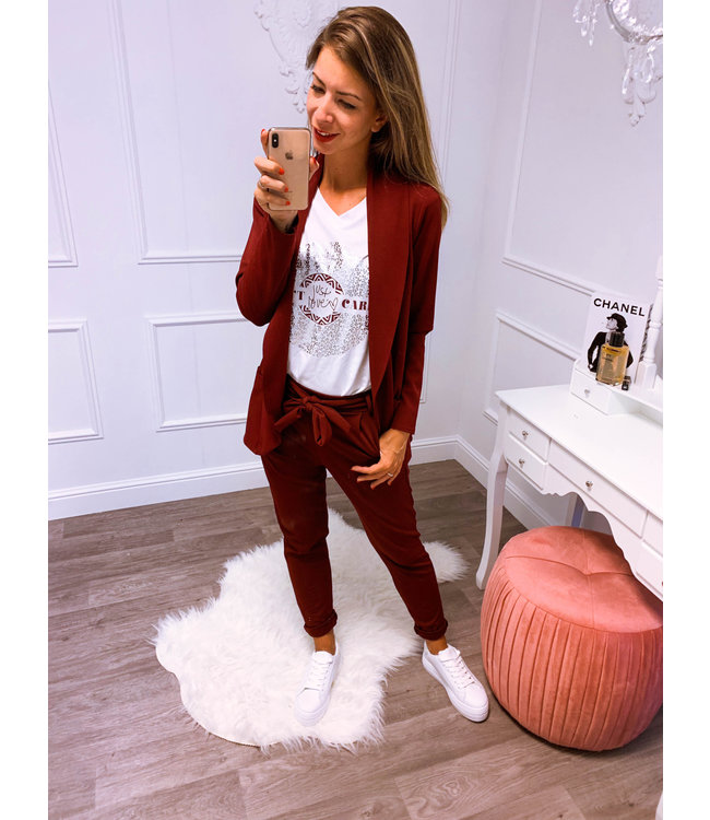 Suit Bordeaux Rood