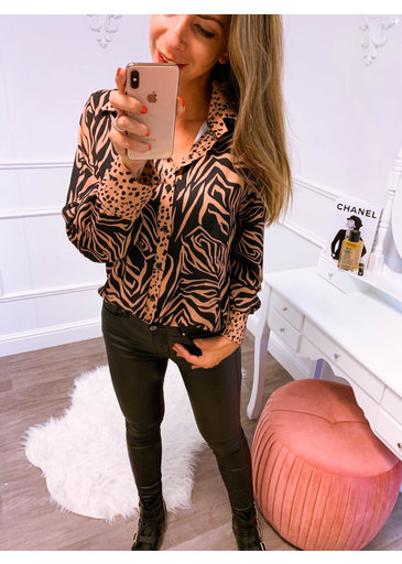Animal Camel Blouse
