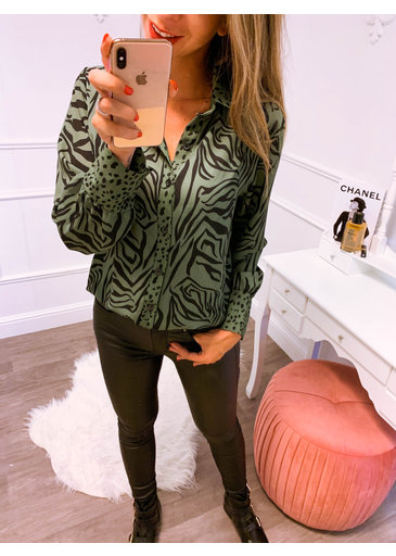 Animal Groen Blouse
