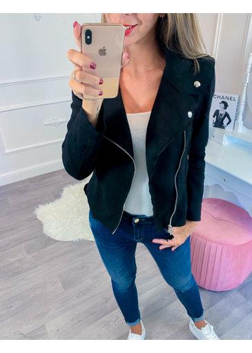 Suède jasje Zwart