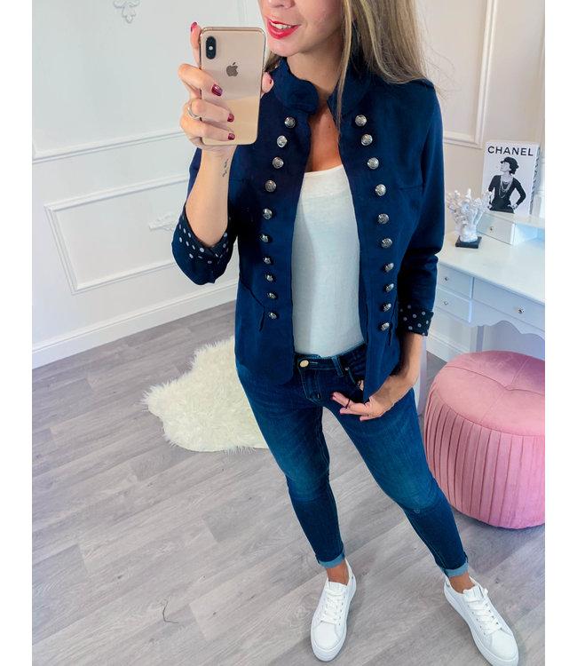 Button Blazer Blauw