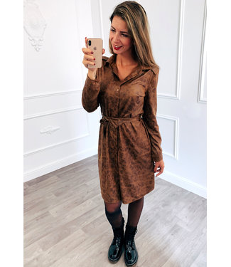 Suède Dress Bruin