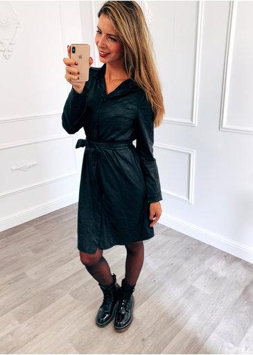 Suède Dress Zwart