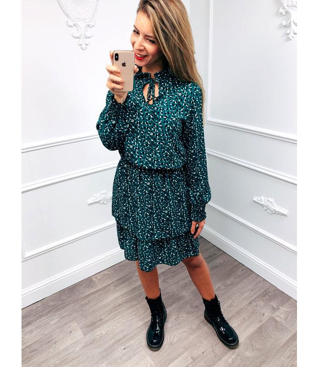Point Dress Blauw
