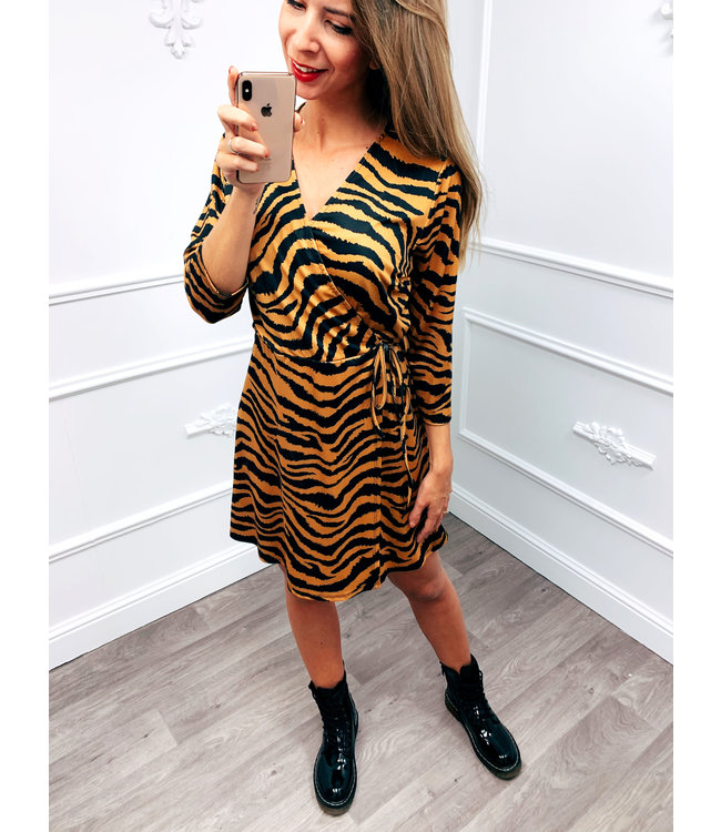 Zebra Dress Oker