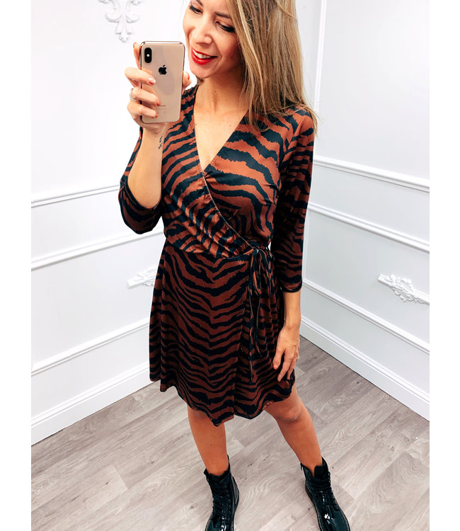 Zebra Dress Terracotta