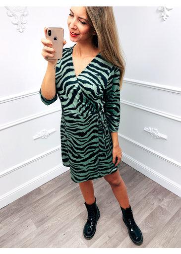 Zebra Dress Groen