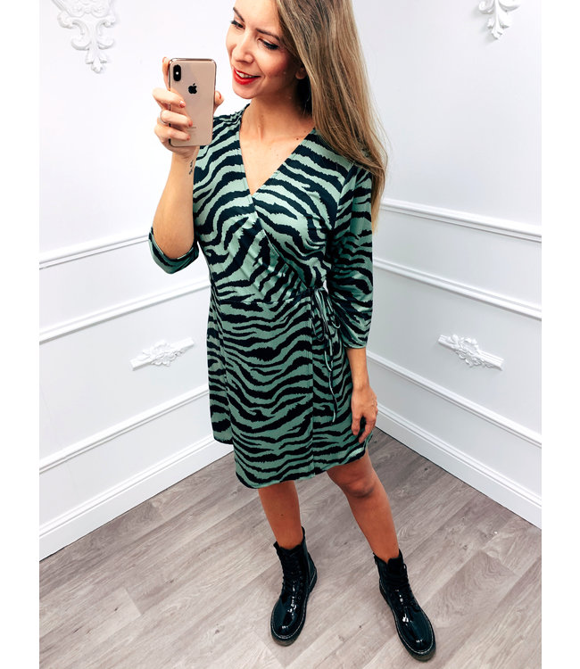 Zebra Dress Groen