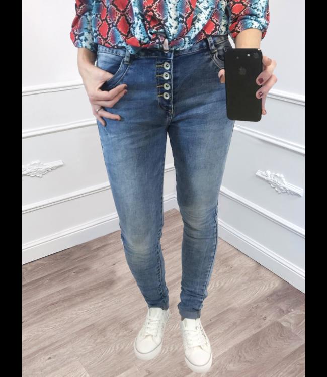 Chino Jeans Fade Blauw