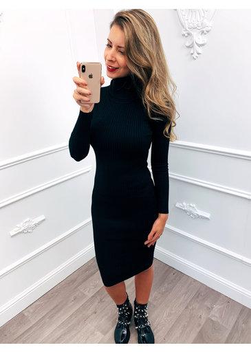 Cowl Dress Zwart