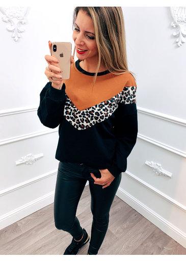 V-line Panter Sweater Camel