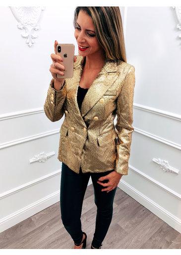 Sparkle Blazer Gold