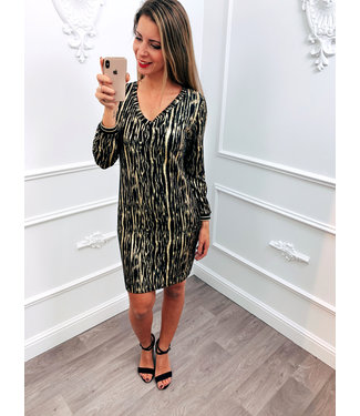 Burst Dress Goud