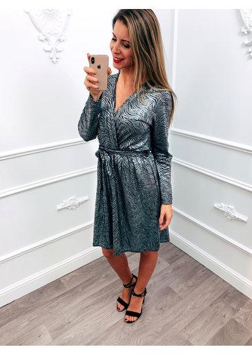 Beautiful Shine Dress Zilver