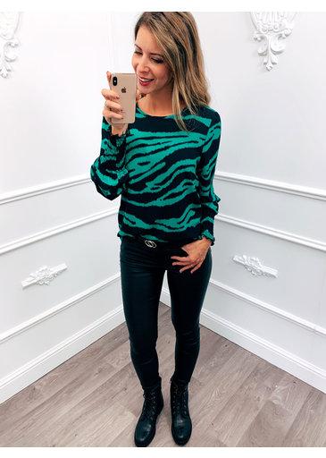 Zebra Blouse Groen