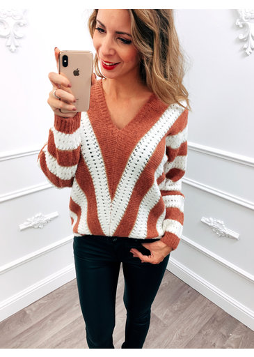 Line Up Sweater Camel