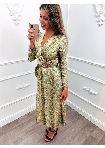 Shine Snake Dress Goud
