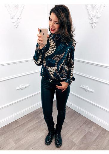 Style Blouse Blauw