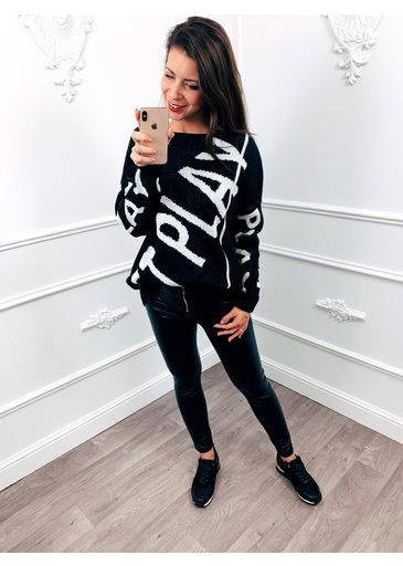 Just Play Sweater Zwart