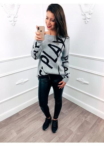 Just Play Sweater Grijs