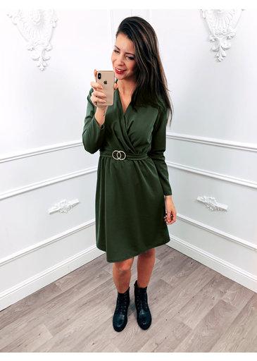 Golden Belt Dress Groen