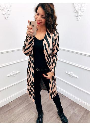 Zebra Vest Roze
