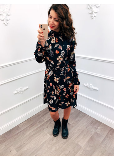 Cute Flower Dress Zwart