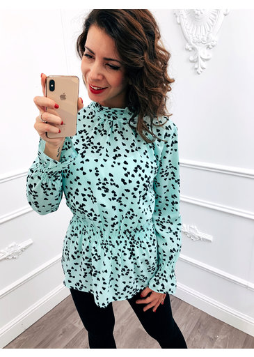 Taille Blouse Mint Groen