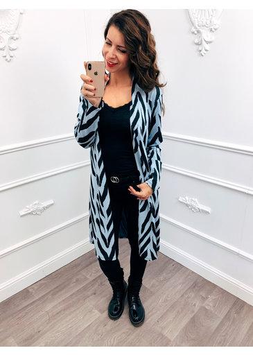 Zebra Vest Blauw