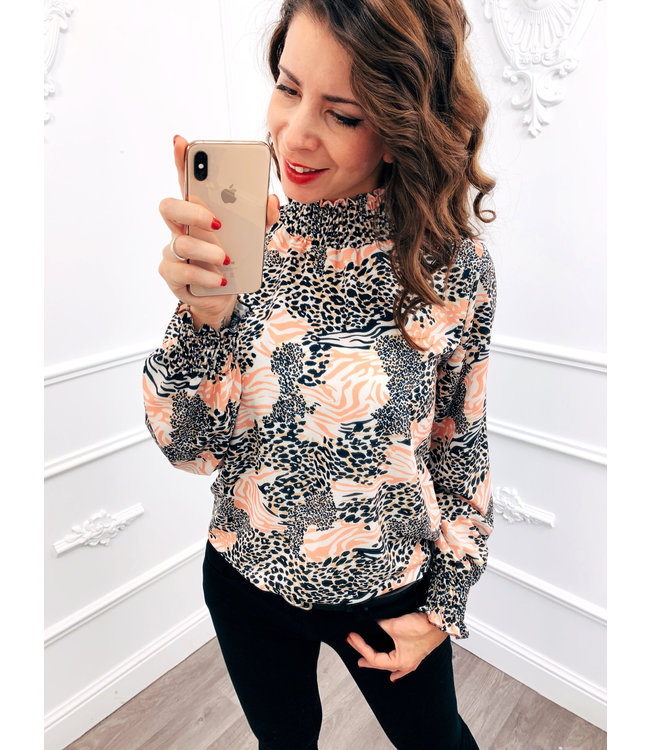 Perfect Cowl Top Roze