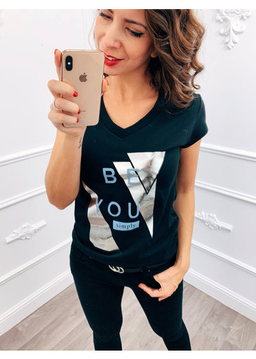 Be You Top Blauw