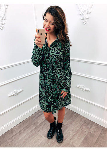 Blouse Dress Print Groen