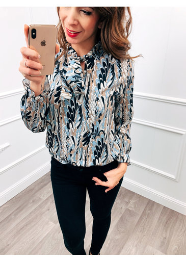 Vibe blouse Blauw
