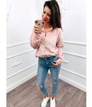 Rib Blouse Pink
