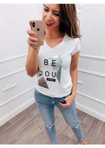 Be You Top Zwart Wit