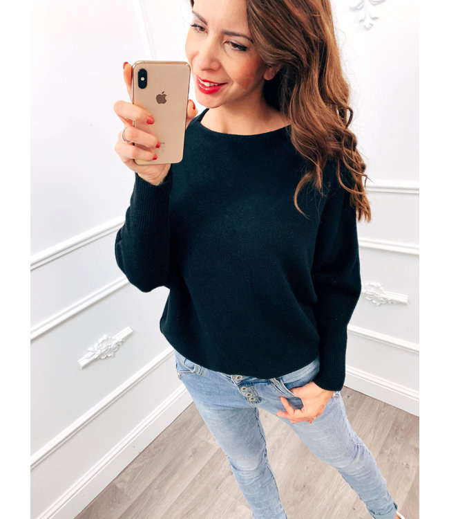 Wing Sweater Zwart