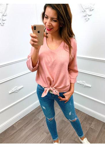 Knoop Top Roze