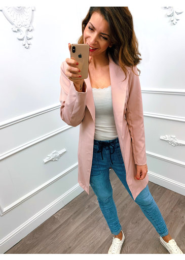 Long Chique Jacket Roze