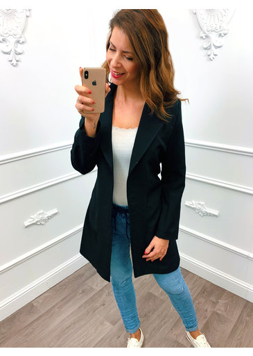 Long Chique Jacket Zwart