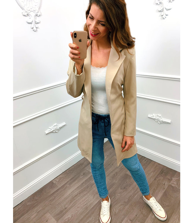 Long Chique Jacket Beige