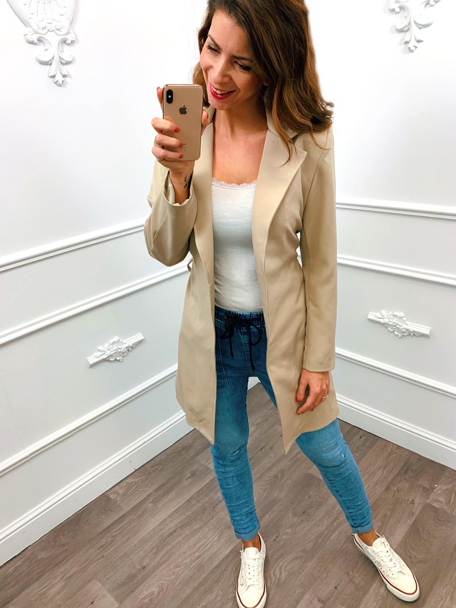 Long Chique Jacket Beige