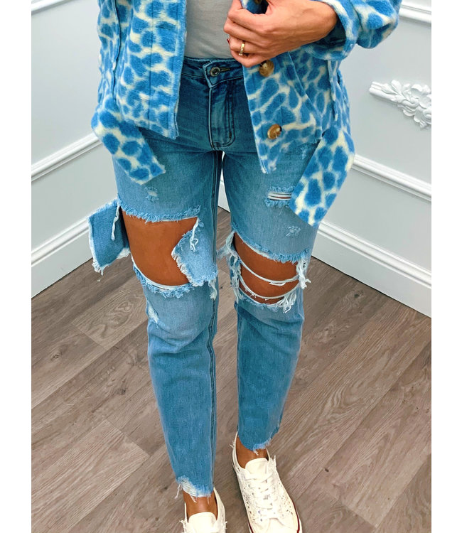 High Ripped Jeans