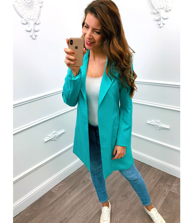 Long Chique Jacket Turquoise