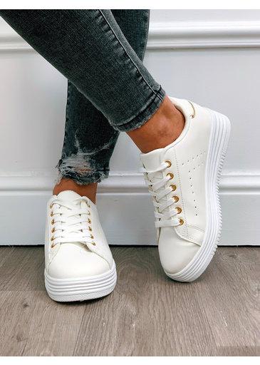 Sneaker Wit Goud