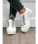 Sneaker Kroko Wit