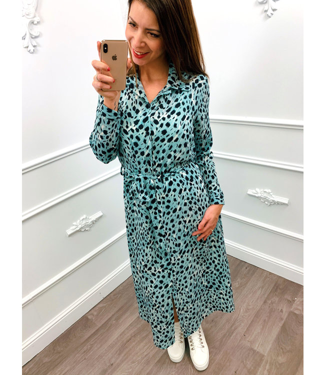 Spring Panter Dress Mint Groen