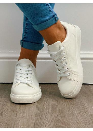 Sneaker Kroko Wit 2.0
